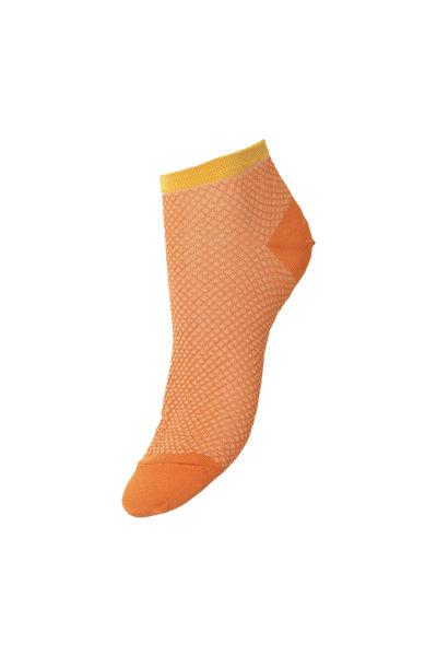 Dollie Harlequin Sock Russet Orange