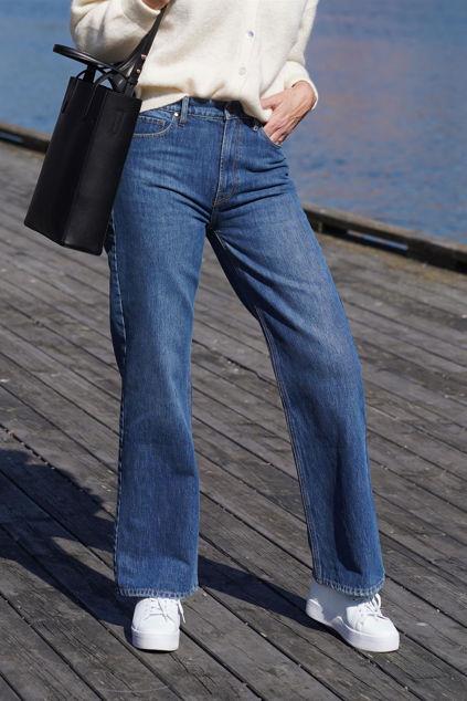 Brown Straight Jeans Bright Orlando Jeansblå