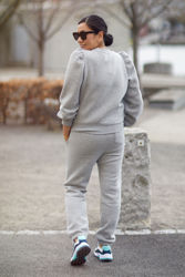 Carmella Sweat Pants Lys gråmelert