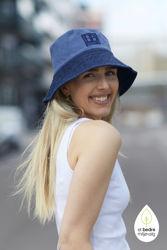 Leona Denim blue patch