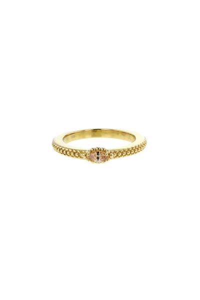 Venus Sculpture Ring Champagne