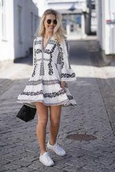 Miriam Short Embroidered Dress Sort