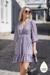 Delicate Semi Mini Dress Blåblomstret