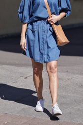 Clarisa Short Skirt Jeansblå