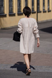 Sam linen dress Beige