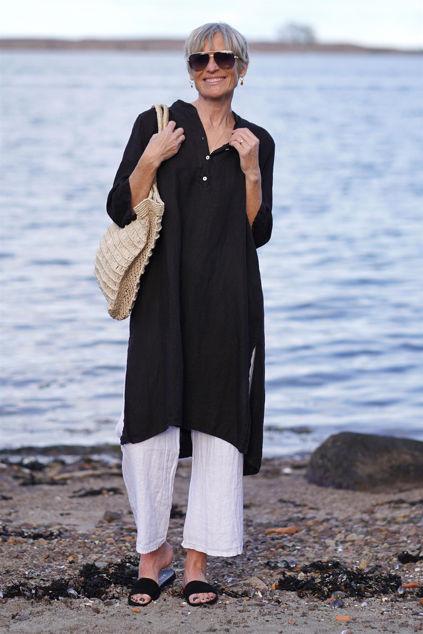 Kiera Long Shirt Dress Sort