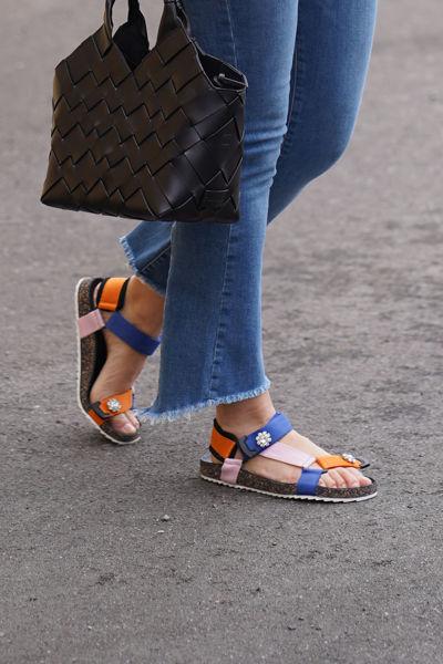 Velcro Galia Sandal Pack Russet Orange