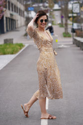 Granada wrap dress Bronze brown
