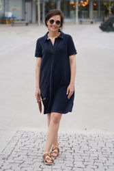 Selena Dress Marineblå