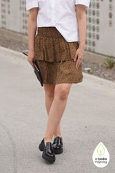 Lif Skirt Brown Mini Leo