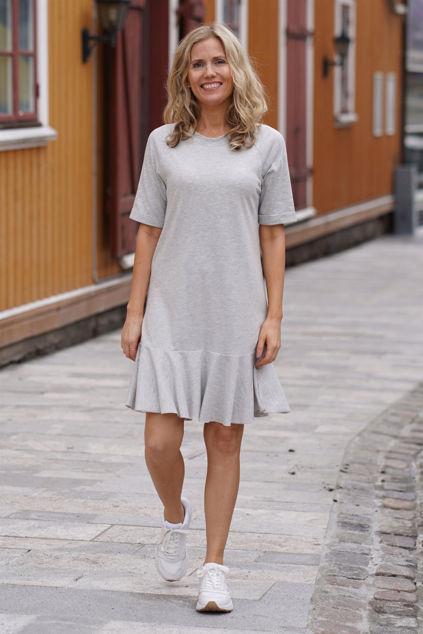 Payton dress Light grey melange