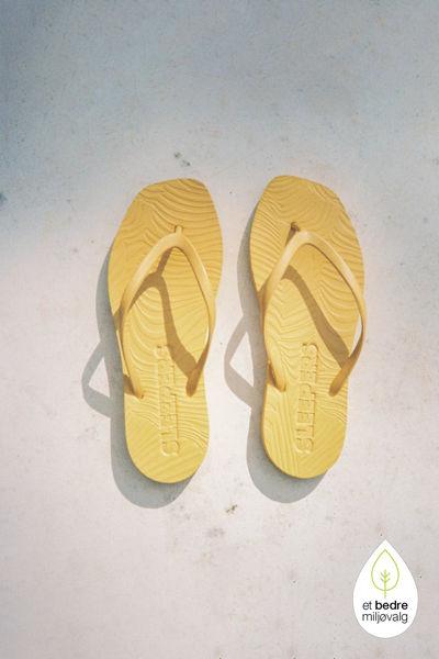 Tapered Flip Flop Mustard