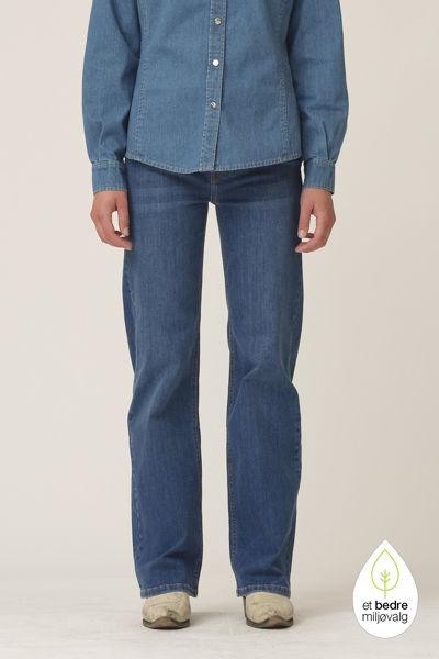 Brown straight jeans wash Florence Denim Blue