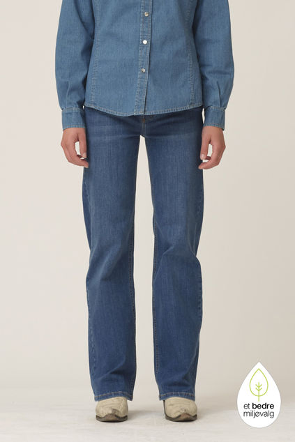 Brown straight jeans wash Florence Denim Blue