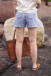 Lilah denim shorts Light blue wash
