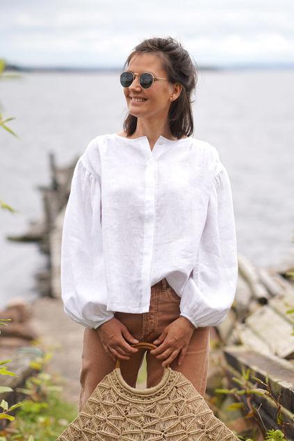 Alice linen shirt Hvit