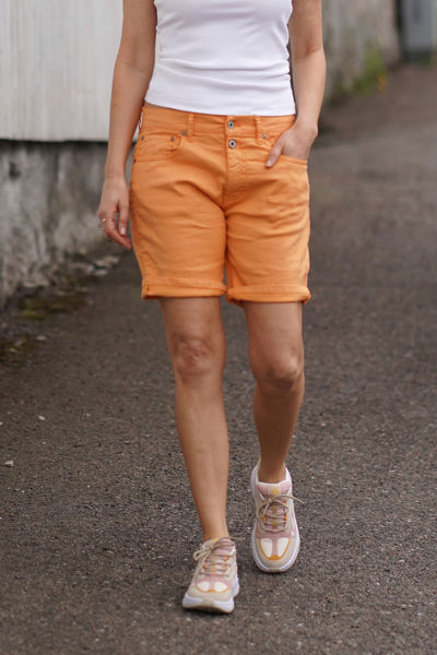 2B Shorts Linen Mango