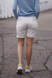2B Shorts Linen Hvit