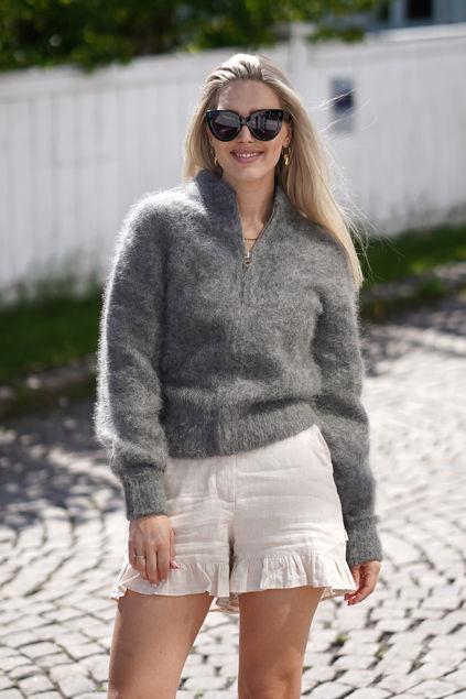 Laura Mohair Cardigan Grå
