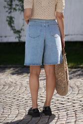Elma Wide Shorts Lys denim