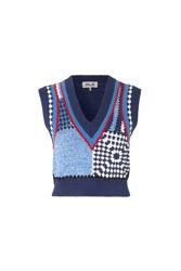 Cicilla Blue white crochet