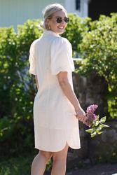 Bilbao mini dress Parchment