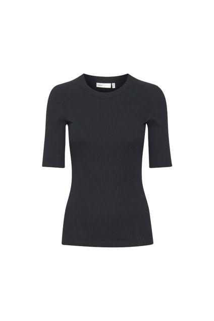 Dagna t-shirt, rund hals Marineblå