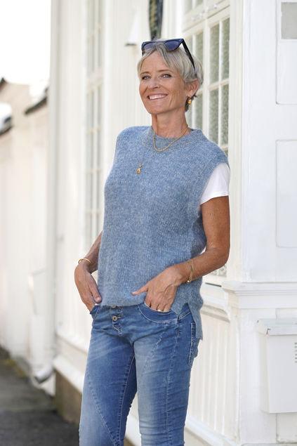 Connie Vest Jeansblå