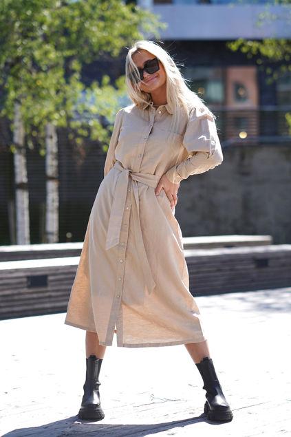 Sybilla Florenta LS midi dress Nomad