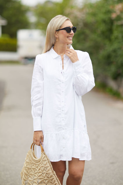 Silja linen dress Hvit