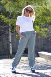 Ima Sweat Pants + T-skjorte Chinois Green/Hvit