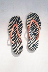 Tapered Flip Flop Sand Zebra