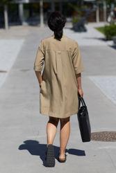 Jaden dress Camel