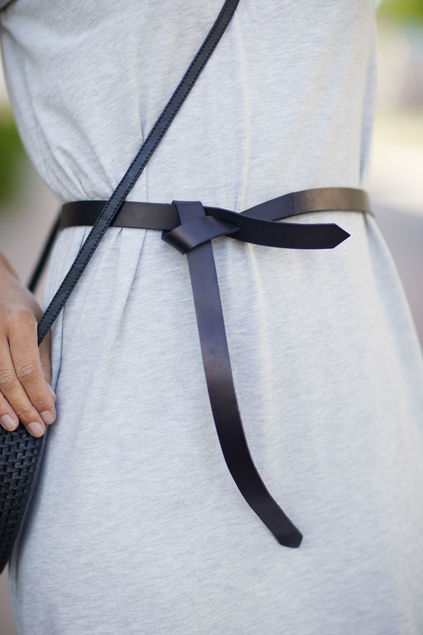 Lotta leather belt Sort