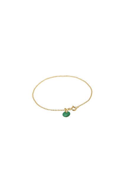 Ball Chain Bracelet Petrol Green