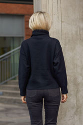 Talli zipper pullover Sort
