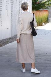 Cadina Skirt Oatmeal Melange