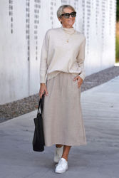 Tenley Turtleneck Pullover Taupe