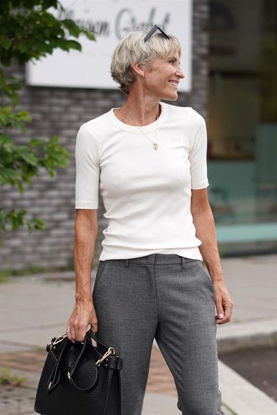 Dagna t-shirt, rund hals Off-white