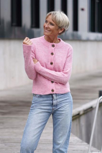 Sia LS Knit Cardigan Prism Pink