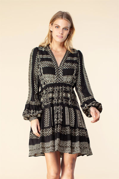 Cecilia Gold Embrodery Dress Sort
