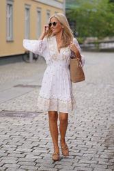 Hedda Embrodery Dress Ivory