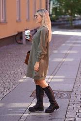 Marna Dress Mørkegrønn