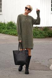 Sif Kaya Knit Dress O-Neck Kalamata