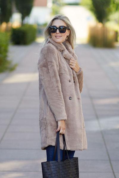 Janne Fake Fur Jacket Beige