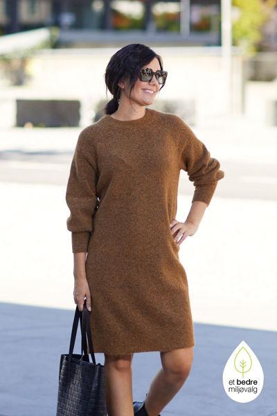 Sif Kaya Knit Dress O-Neck Rubber melange