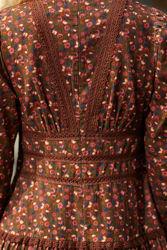 Baby Cord Mini Dress Brun