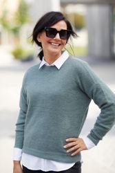 Femme Mohair O Pullover Agave Green