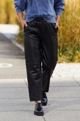 Kalie HW Leather Pants Sort