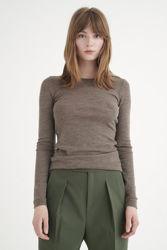 Fang T-Shirt Brunmelert